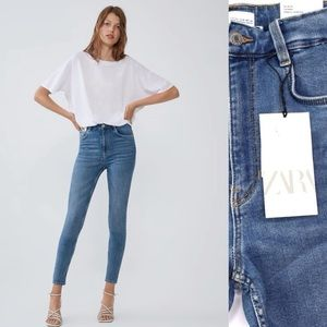 Zara NWT High Rise Vintage Skinny Ankle Length Sizes 00, 0, 2, 6 Available